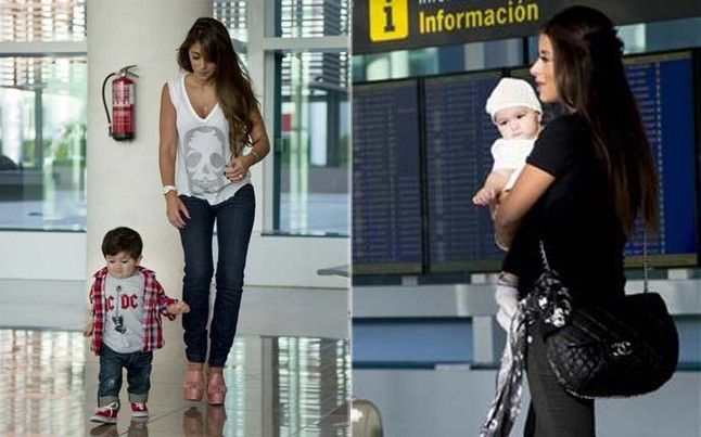 Hardcore Barcelona fans: Thiago Messi & Lia Fabregas are flying to Milan to watch Daddy