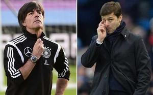Joachim Low, seleccionador de Alemania, y Mauricio Pochettino, entrenador del Tottenham Hotspur