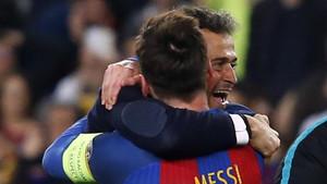 Luis Enrique y Messi, protagonistas de las dos transformaciones del Barça
