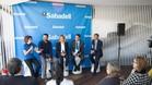 Presentación de la iniciativa solidaria, en el Village del Open Banco Sabadell
