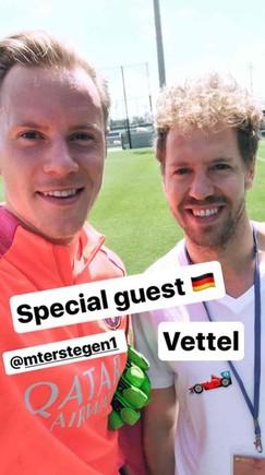 Ter Stegen, junto a Vettel
