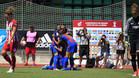 Las jugadoras del Barça Femenino celebran uno de los goles de Jenni Hermoso en la final de la Copa de la Reina contra el Atlético
