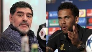 Diego Maradona contestó a Dani Alves quien había cuestionado su gol de La Mano de Dios a Inglaterra