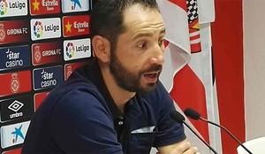 Pablo Machín, durante la rueda de prensa