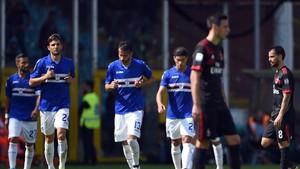 El Milan jugó un mal partido
