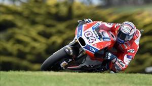 Andrea Dovizioso, satisfecho de su rendimiento en los entrenamientos del GP de Australia