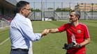 Bartomeu saluda efusivamente a Valverde en la Ciutat Esportiva