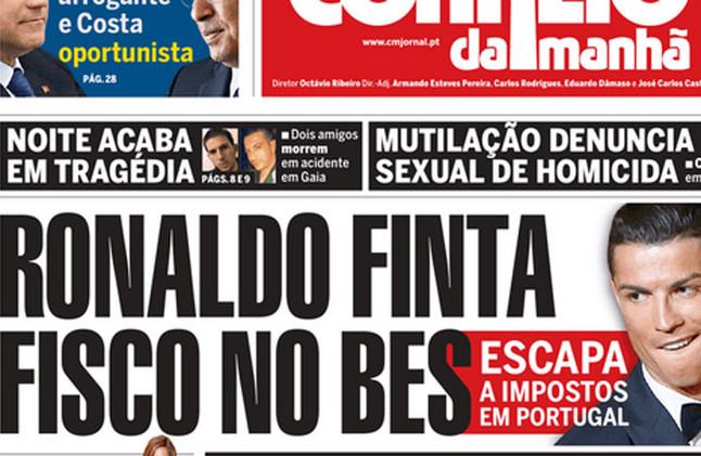 Messi va a acabar en la cárcel - Página 4 Cristiano-ronaldo-portada-del-correo-manha-1432119090086