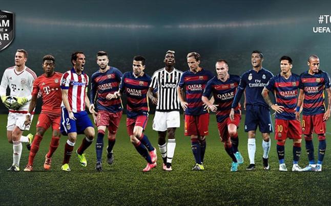 Este es el equipo de la UEFA 2015 de Deco