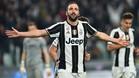 Higuaín marcó el tercer gol de la Juventus ante el Palermo