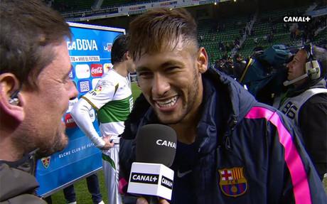 Neymar, uno de los protagonistas de la tarde en Elche