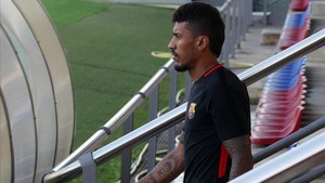 Paulinho viajó a China aprovechando los tres días de permiso que le dio Valverde