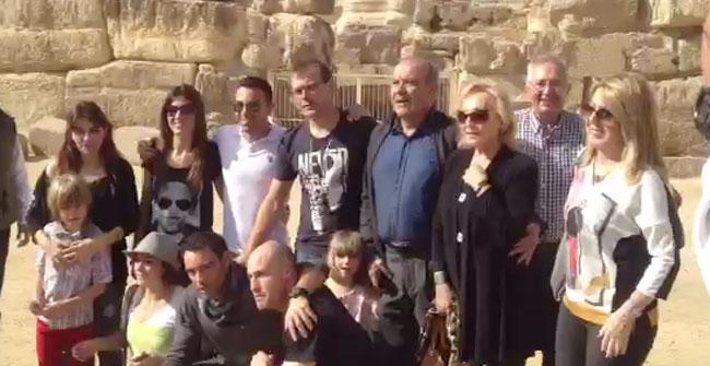 Xavi visita las pir�mides de Egipto