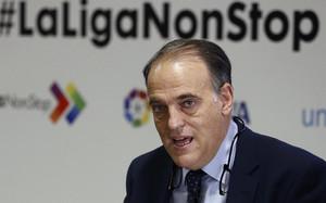 Javier Tebas, consideró que el acuerdo supone un paso más en el fomento de la imagen del fútbol dentro de la sociedad