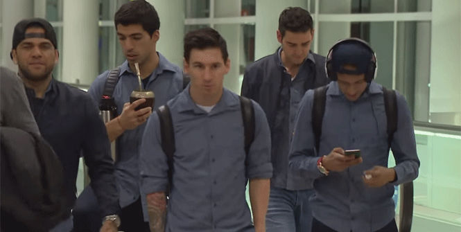 Así fue el viaje del Barça a Valencia