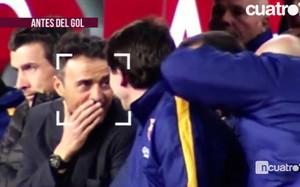 Cuatro captó el momento en el que Luis Enrique supo qué jugada se iba a hacer