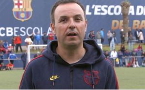 Xevi Marcé en su época en la FCBEscola