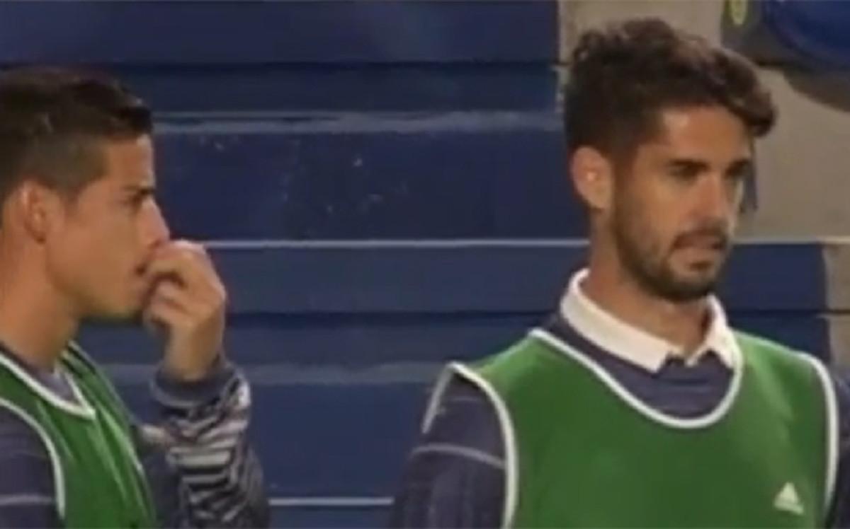 La reacci�n de Isco y James al cambio de Cristiano Ronaldo