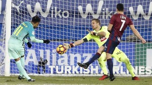 Neymar, en la jugada del gol