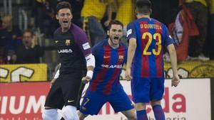 Dyego marcó cuatro goles y fue la estrella del partido
