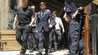 Messi, a su salida de la Audiencia de Barcelona