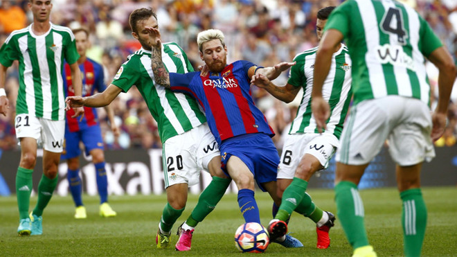 Leo Messi en el Betis-Barça de la Liga 2016/17