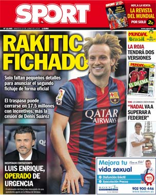 Barcelona set to announce €17.5m signing of Sevilla & Croatia midfielder Ivan Rakitic