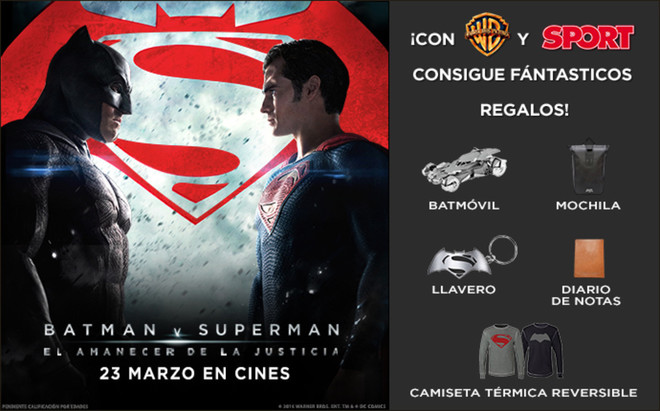 Gana un lote de productos de la pel�cula Batman Vs Superman