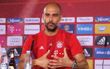 Guardiola, en rueda de prensa en M�nich