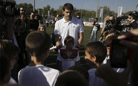 Iker Casillas durante el evento de este jueves