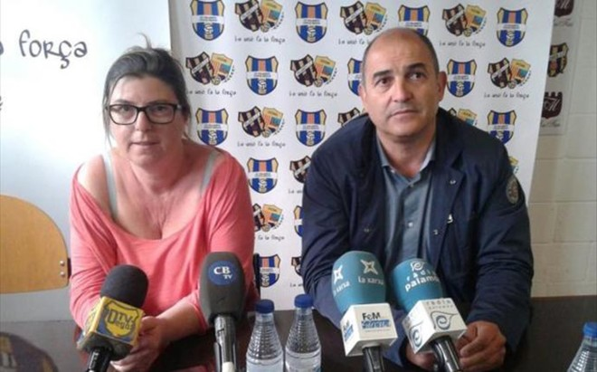 Isabel Tarrag� y Joan Pau P�rez, presidentes del Llagostera y Palam�s