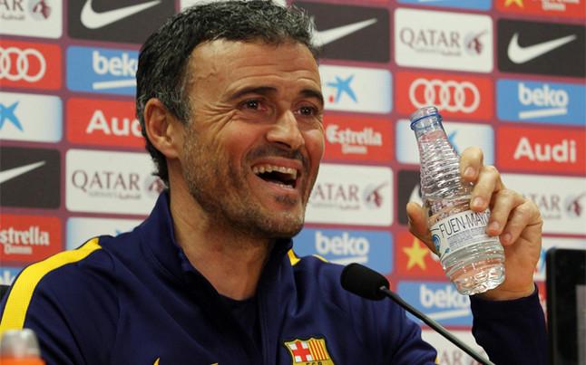 La rueda de prensa de Luis Enrique del Barcelona - Atl�tico de Liga