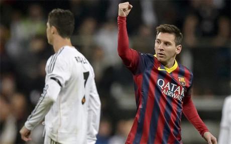 Messi celebr� as� uno de los goles en el Bernab�u
