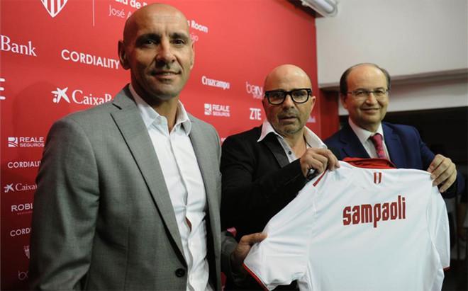 Monchi reafirma el compromiso de Sampaoli