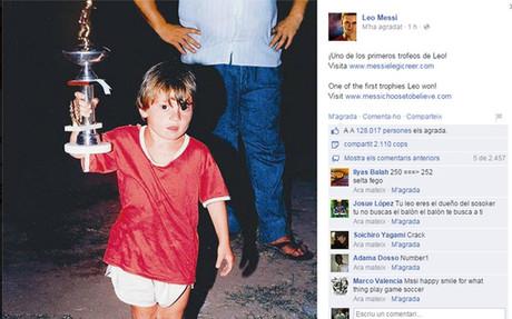La p�gina oficial de facebook de leo Messi public� esta curiosa foto