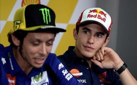 Rossi y M�rquez, el a�o pasado en rueda de prensa