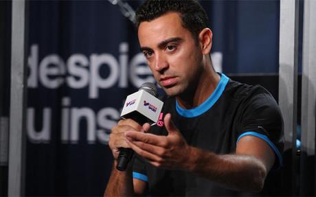 Xavi no se obsesiona con su nuevo papel en el equipo