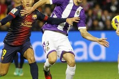 En el partido de ida, el Real Valladolid puso ms dificultades de las esperadas al Bara