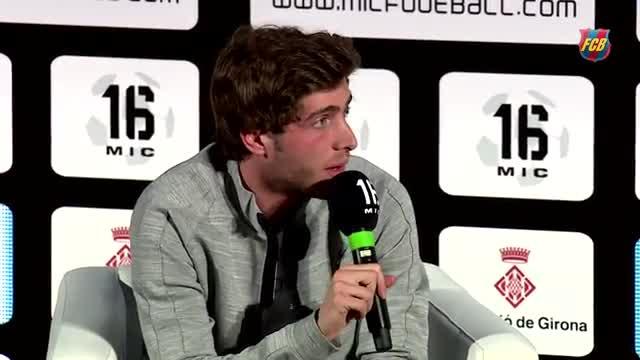 Sergi Roberto, protagonista en la presentación del MIC