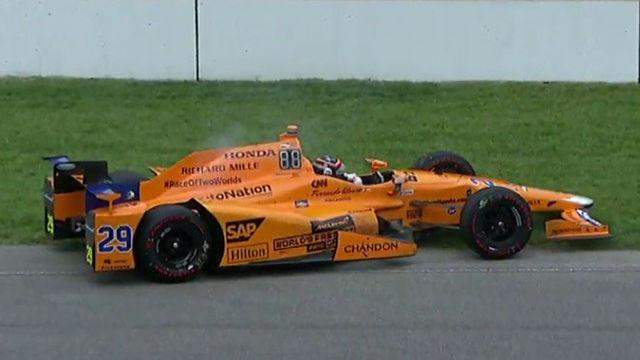 El motor de Fernando Alonso se rompió en las 500 Millas de Indianápolis