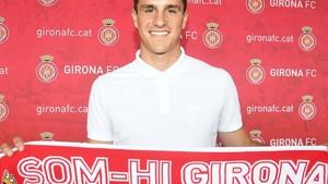Bernardo fue presentado este martes como nuevo jugador del Girona