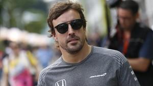 Fernando Alonso, este jueves en Singapur