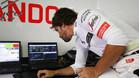 Alonso, con problemas en el GP B�lgica