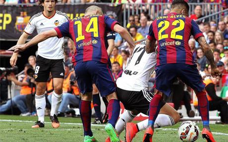 El Barça se pasó con las faltas