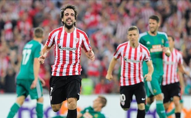 Be�at celebra el gol de la victoria sobre el Rapid