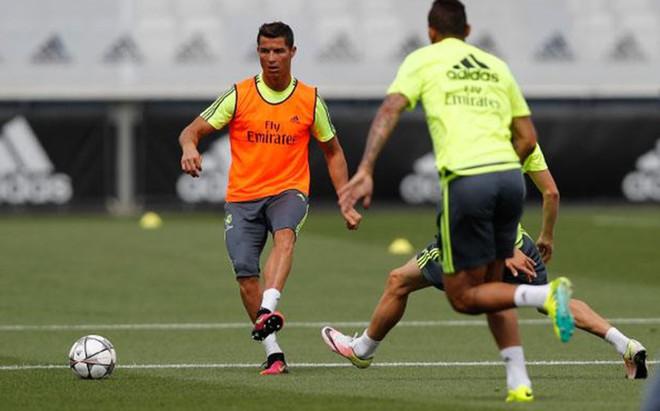 Cristiano, en el entrenamiento