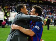 'Lucho' y Messi se fundieron en un abrazo tras la victoria ante el Alavés