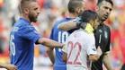 Nolito, consolado por Buffon al final del partido