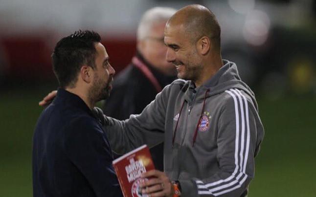 Xavi visita a Guardiola en Doha
