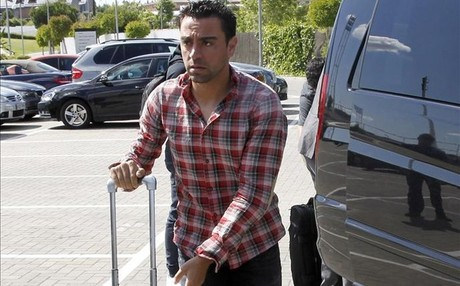 Xavi Hern�ndez ya se encuentra en Barcelona